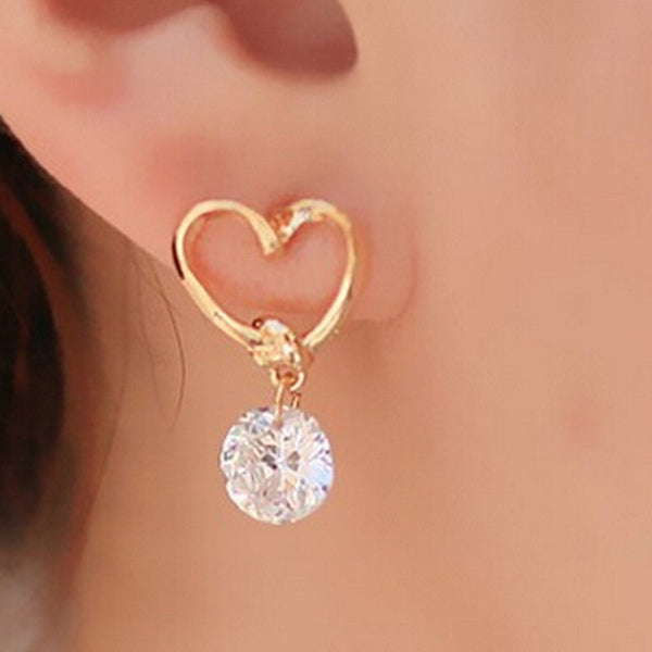 StudCrystal Earring Gold  Jewelry Brincos Woman A40 - Marra's Dream