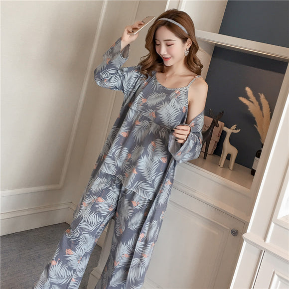 Sets for Women New Autumn summer Fashion Long Sleeve Pyjama Femme - Marra's Dream