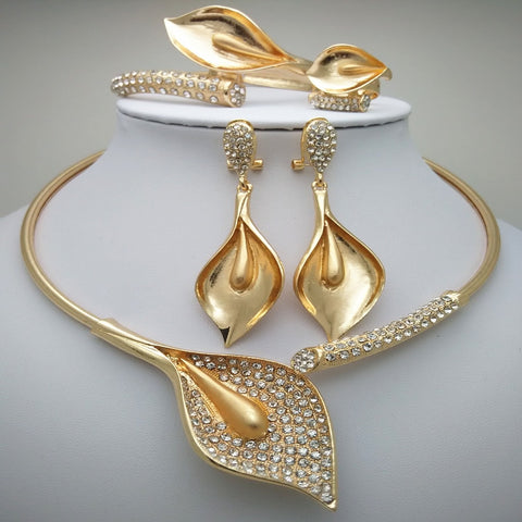 Nigerian Wedding African Beads Zinc Alloy Jewelry Sets