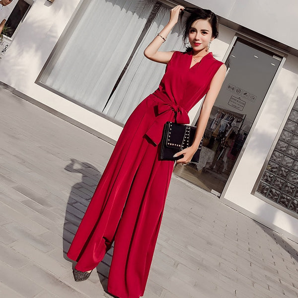 Elegant Ladies Jumpsuits  Casual Office Lady Playsuits