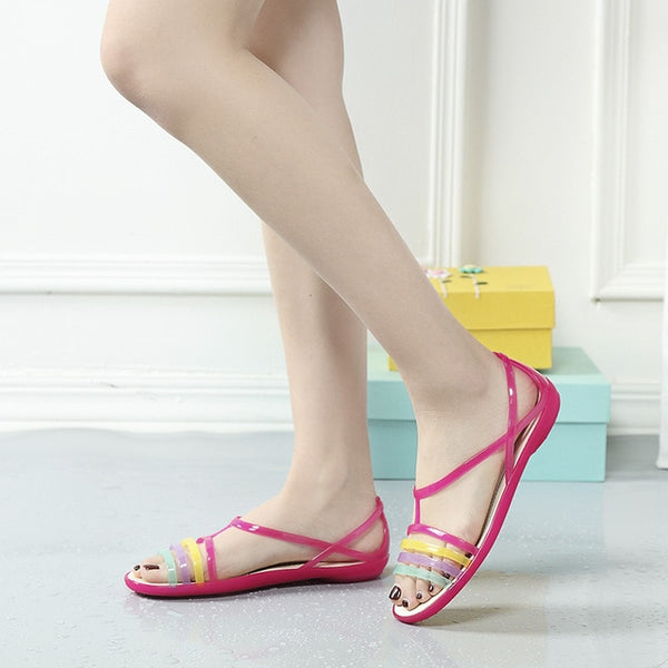 Women Sandals Summer  Casual Mixed Candy Colors - Marra's Dream