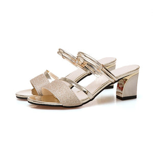 Sandals Women Fashion Luxury Brand Square Heel - Marra's Dream