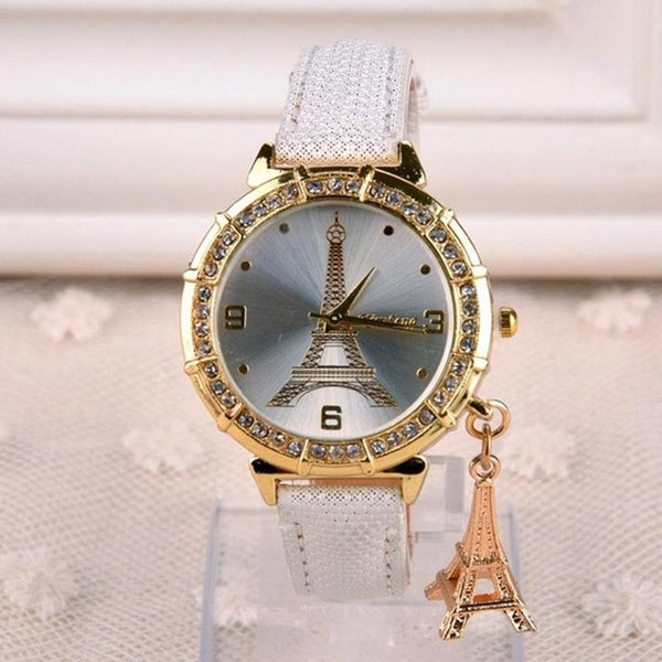 Fashion Women Analog Leather Quartz Tower Wrist - Marra's Dream
