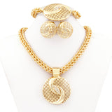 Gold Jewelry Sets for Women Big Necklace Fashion Nigerian - Marra's Dream