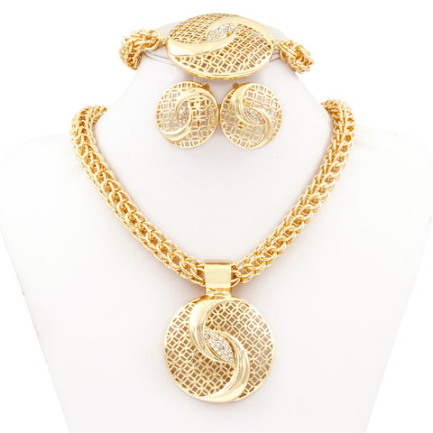 Gold Jewelry Sets for Women Big Necklace Fashion Nigerian