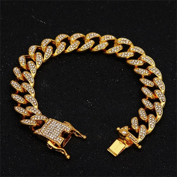 13mm Miami Cuban Link Chain Gold Necklace B - Marra's Dream