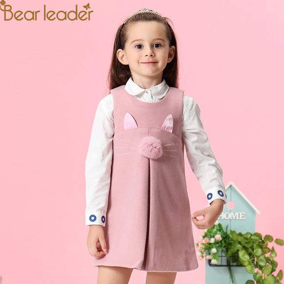 Girls Dress 2018 New Autumn Casual Style Solid - Marras Dream