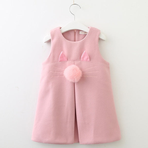 Girls Dress 2018 New Autumn Casual Style Solid - Marra's Dream