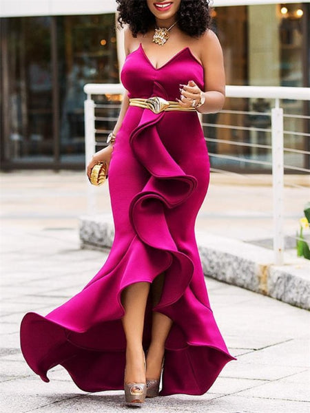 Maxi Party Dress Sexy Elegant