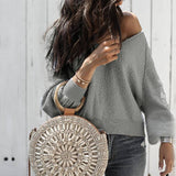 Autumn V Neck Knitted women casual - Marra's Dream
