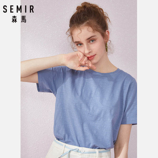 Classique tee tshirt clothes O-Neck Short Sleeve  Cotton Tops - Marra's Dream