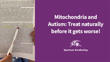 Mitochondria and Autism: Treat naturally before it gets worse!