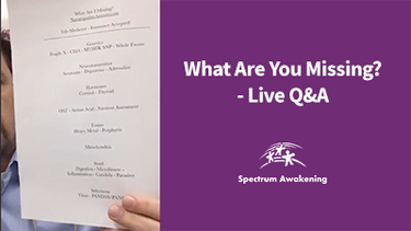 What Are You Missing?: Live Q&A