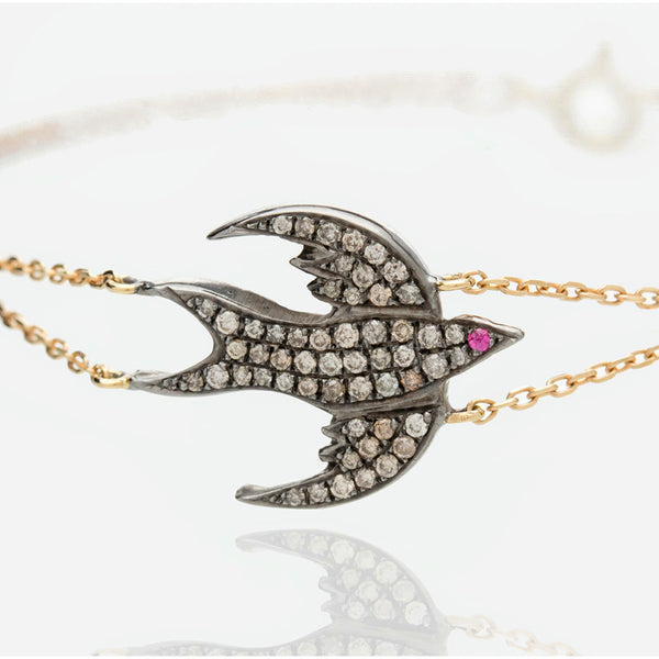 DIAMOND BIRD BRACELET