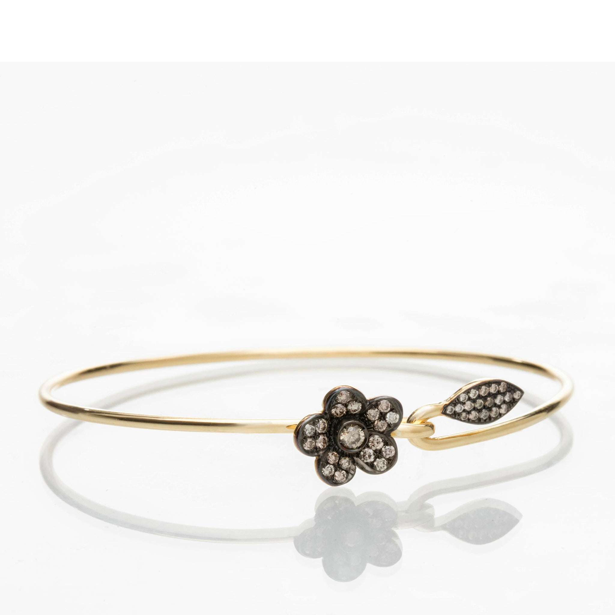 FLOWER AND LEAF BRACELET