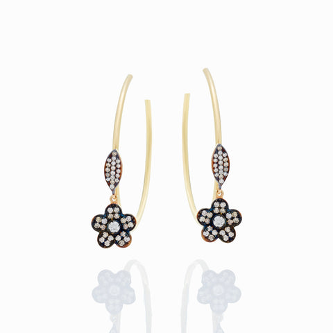 FLOWER AND LEAF HOOPS