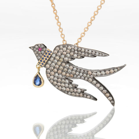COLLAR BIRD NECKLACE