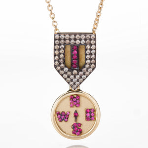 COMPASS MEDAL NECKLACE