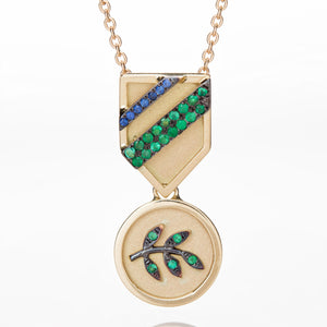OLIVE BRANCH MEDAL NECKLACE