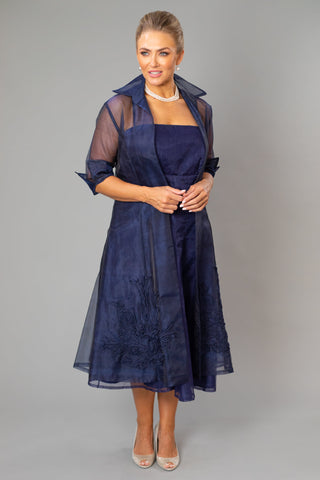 Pure Silk Tea Length Dress and Coat for the Mother of the Bride / Groom