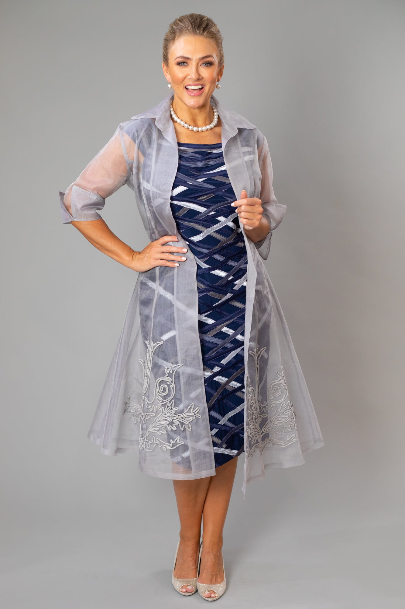 Organza Coat - Silver for the Mother of the Bride / Groom