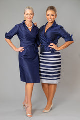 Cocktail Wrap Dress - Navy for the Mother of the Bride / Groom