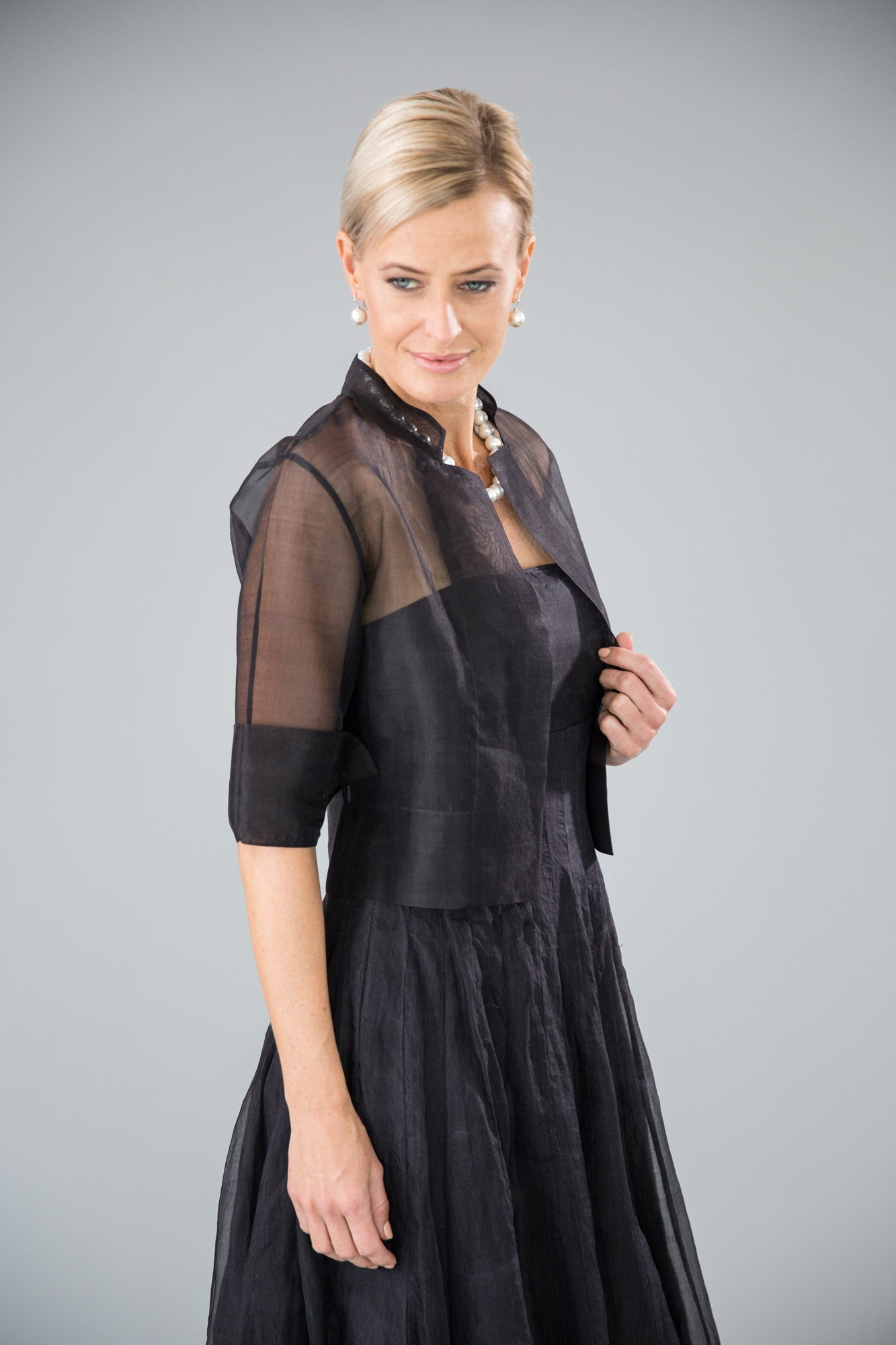 Organza Jacket - Black for the Mother of the Bride / Groom