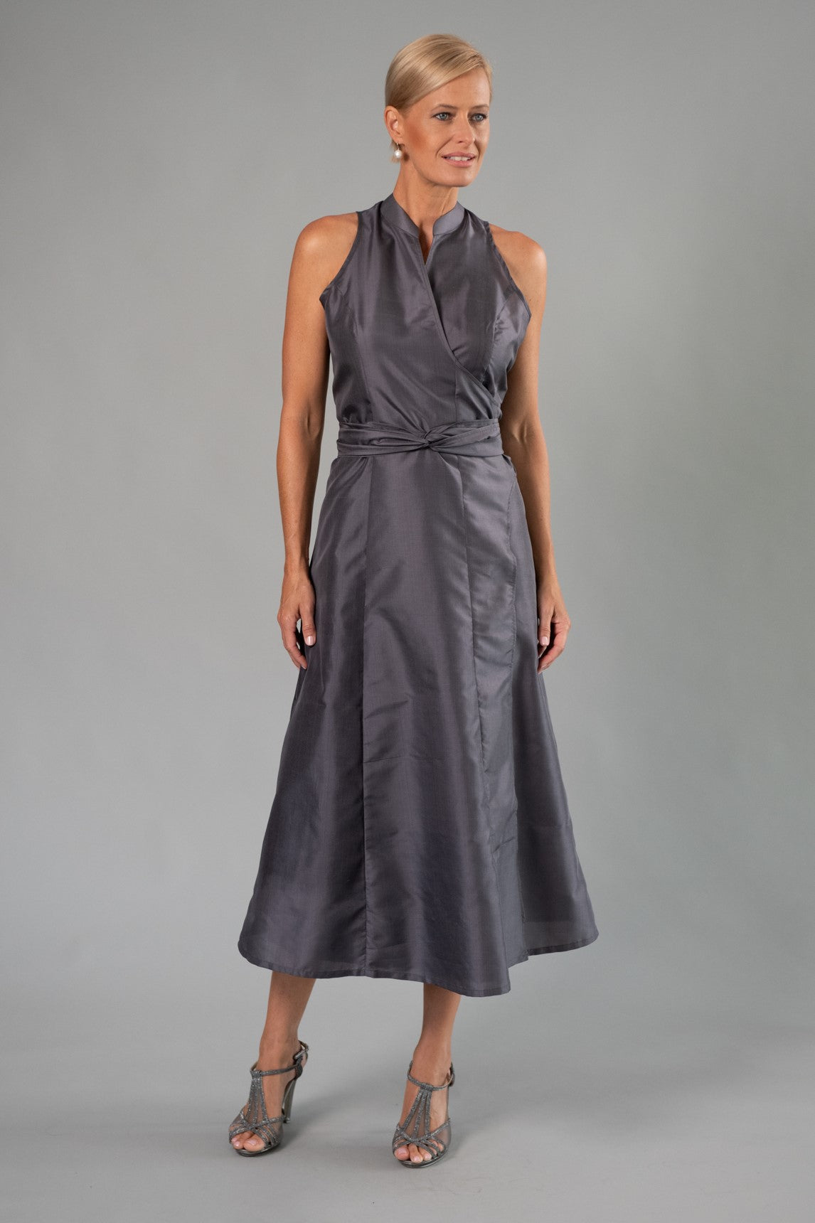 Wrap Dress - Gunmetal for the Mother of the Bride / Groom