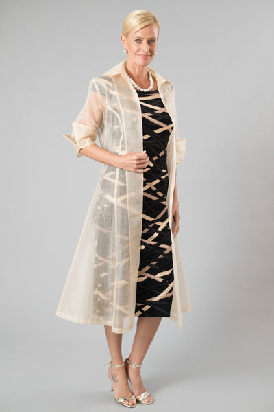 Organza Coat Plain - Gold for the Mother of the Bride / Groom