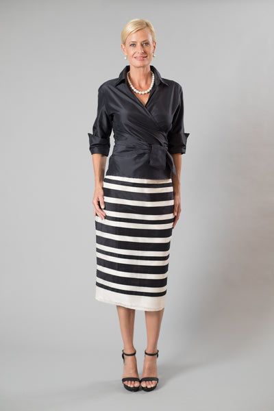 Zambi Skirt - Black + Ivory for the Mother of the Bride / Groom