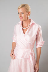 Soft pink long two piece outfit for the modern and elegant mother of the bride/ groom