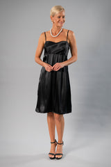 Cocktail Wrap Dress - Black for the Mother of the Bride / Groom