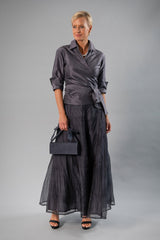Pansy Skirt - Gunmetal Gown Length for the Mother of the Bride / Groom