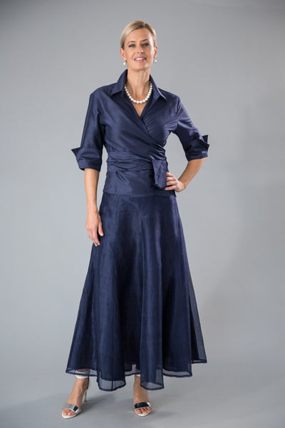 Pansy Skirt - Navy for the Mother of the Bride / Groom
