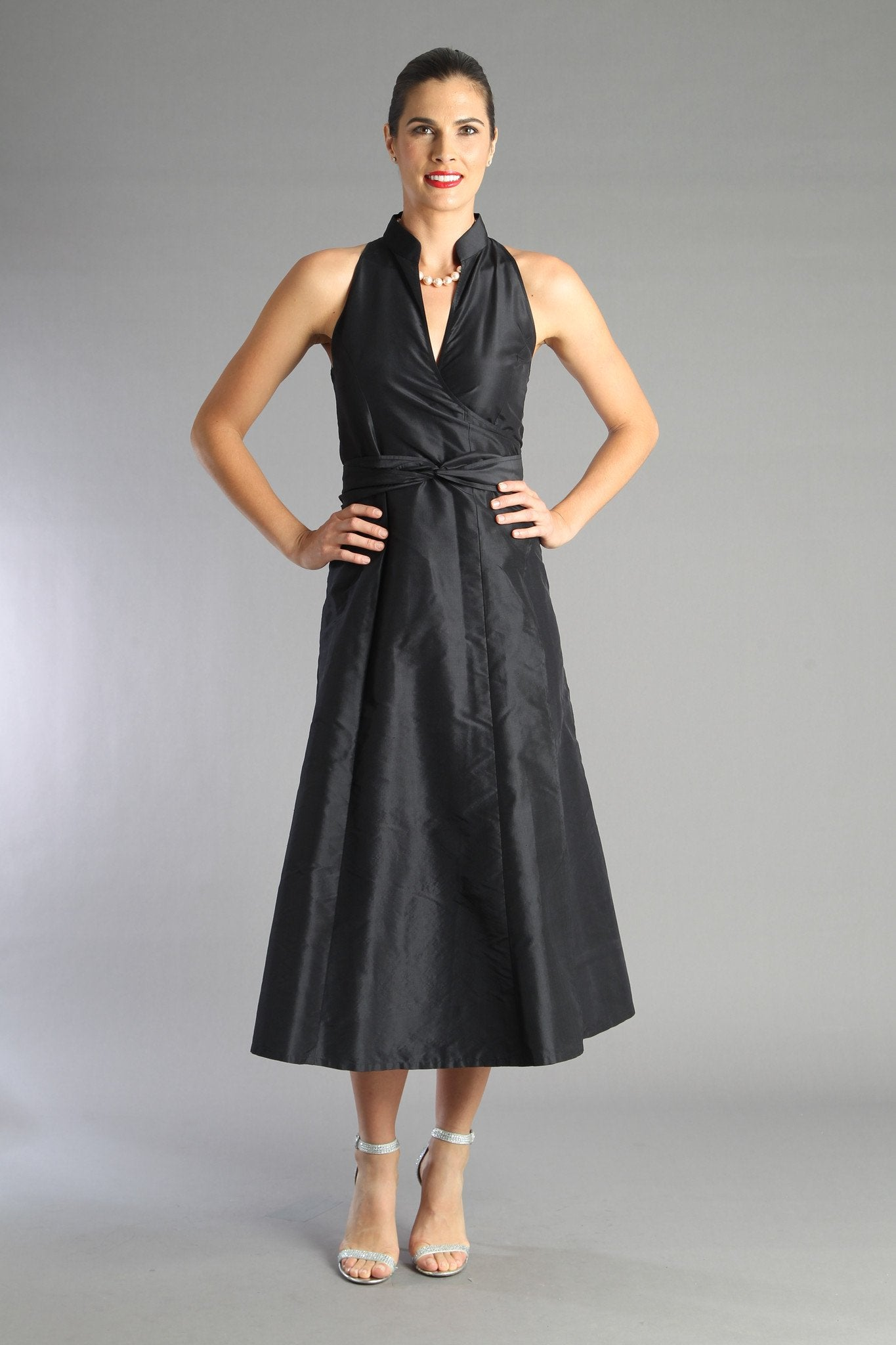 Wrap Dress - Black for the Mother of the Bride / Groom