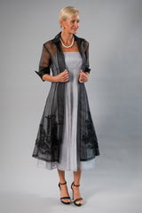 Organza Coat - Black for the Mother of the Bride / Groom