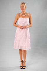 Cocktail Organza Wrap Dress - Soft Pink for the Mother of the Bride / Groom