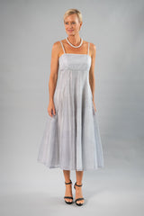 Tea Length Dress - Silver for the Mother of the Bride / Groom