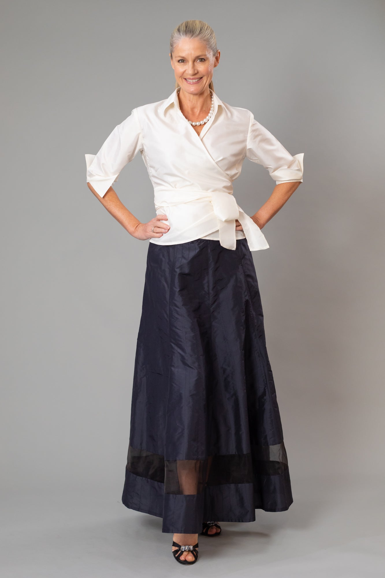 Cocktail Skirt - Long Black for the Mother of the Bride / Groom