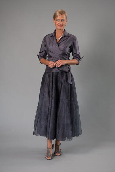 Bohemian Skirt - Gunmetal for the Mother of the Bride / Groom