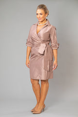Cocktail Wrap Dress - Coffee for the Mother of the Bride / Groom
