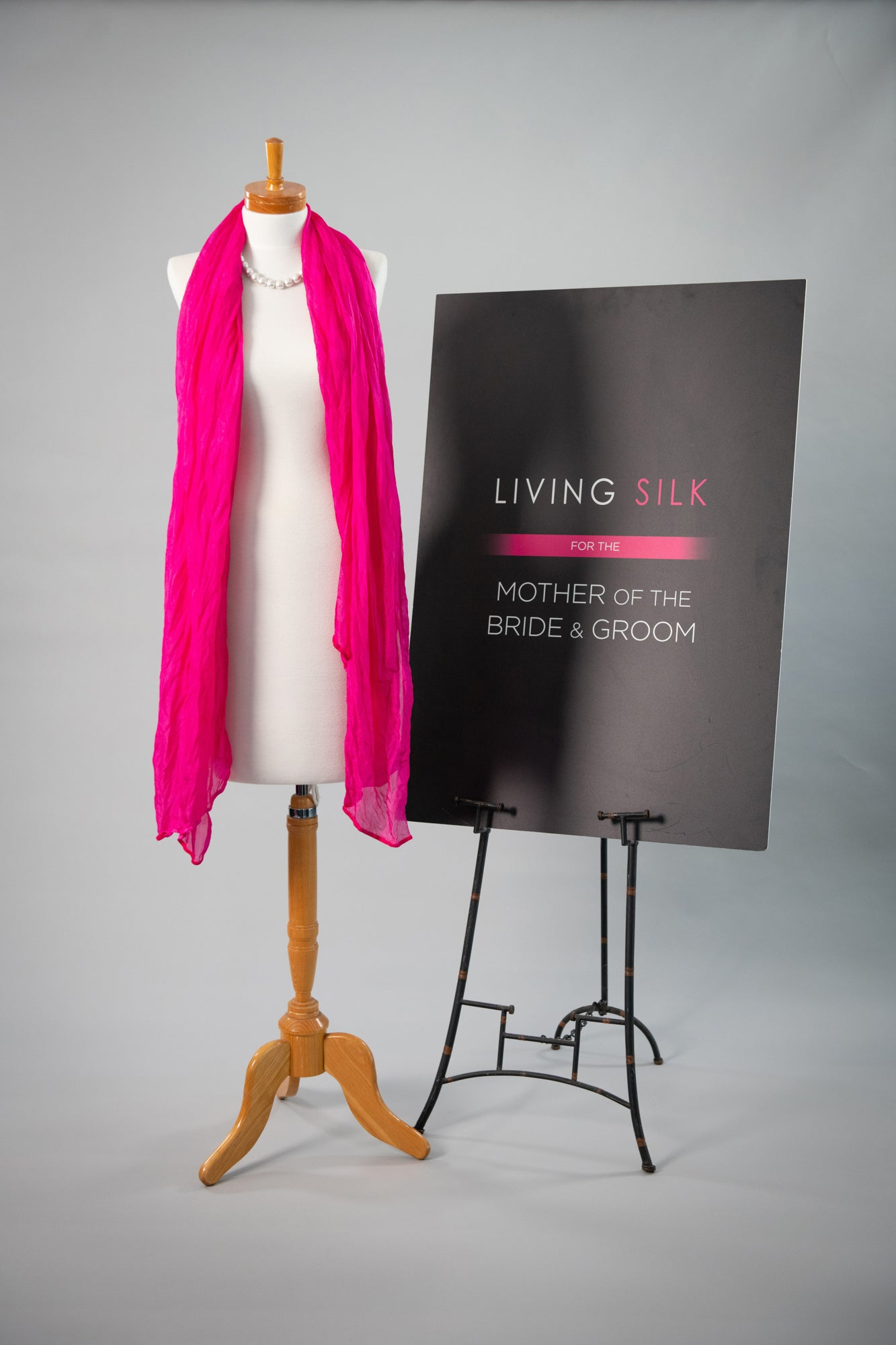 Soft Silk Shawl - Fuchsia