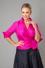 Classic Wrap Shirt - Fuchsia for the Mother of the Bride / Groom