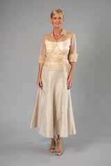 Cocktail Skirt - Gold for the Mother of the Bride / Groom