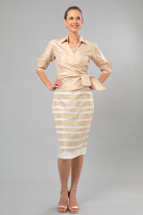 Zambi Skirt - Gold + Ivory for the Mother of the Bride / Groom