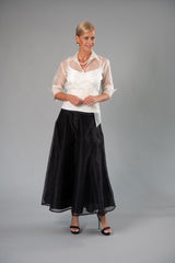 Organza Classic Wrap Shirt - Ivory for the Mother of the Bride / Groom