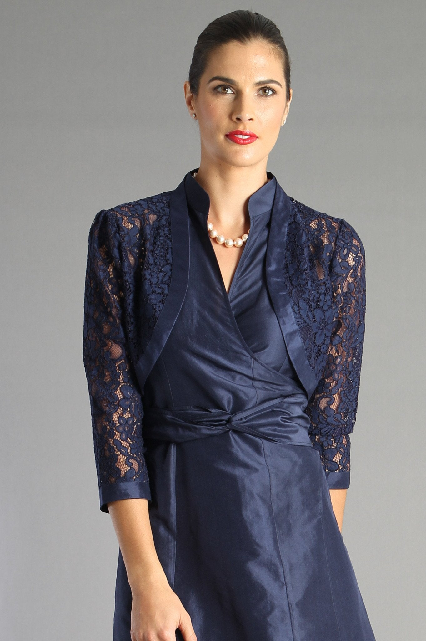Lace Bolero - Navy for the Mother of the Bride / Groom