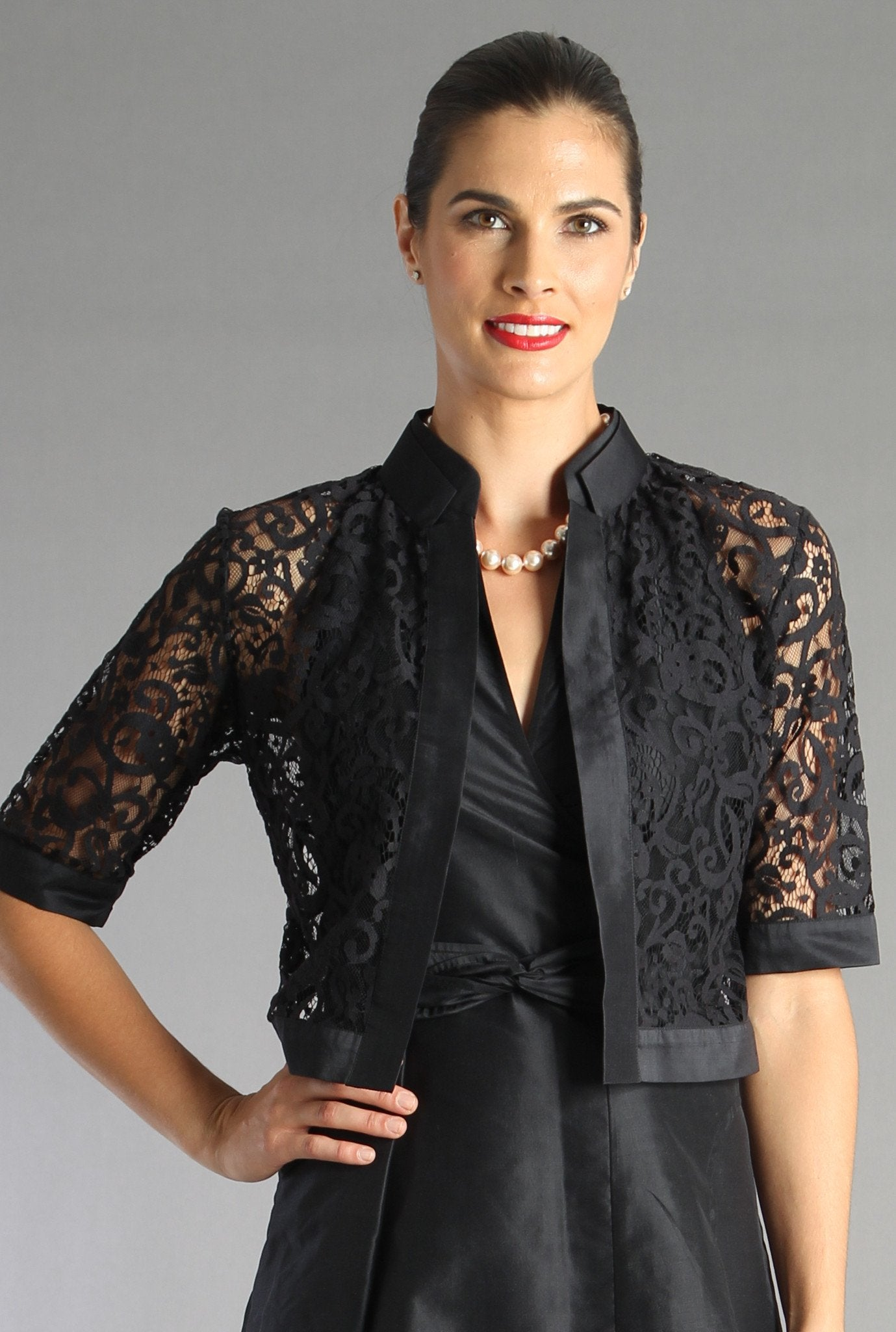 Lace Jacket - Black for the Mother of the Bride / Groom