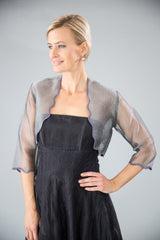Scalloped Bolero - Charcoal for the Mother of the Bride / Groom