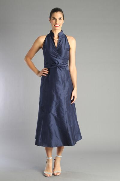 Wrap Dress - Navy Blue for the Mother of the Bride / Groom